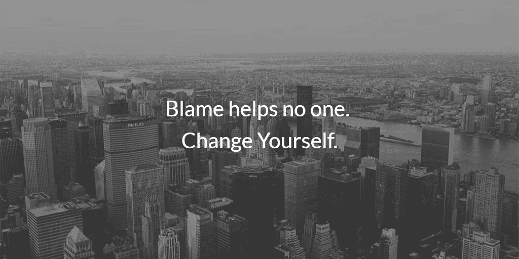 Blame helps no one. Change yourself. #blacklivesmatter #alllivesmatter #stopkilling